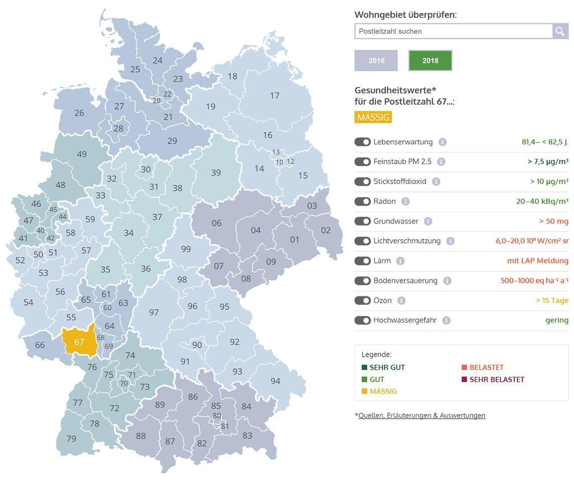 Wohnqualitätsatlas für Deutschland